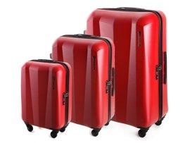 Zestaw trzech walizek WITTCHEN 56-3-513/512/511 czerwony